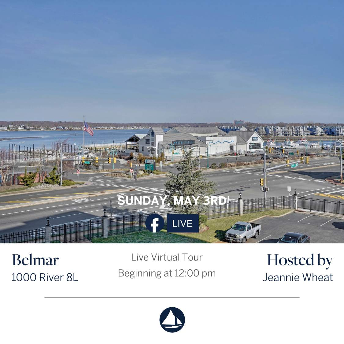 1000 River Rd 8L - May 3rd Virtual Open House on FB Live