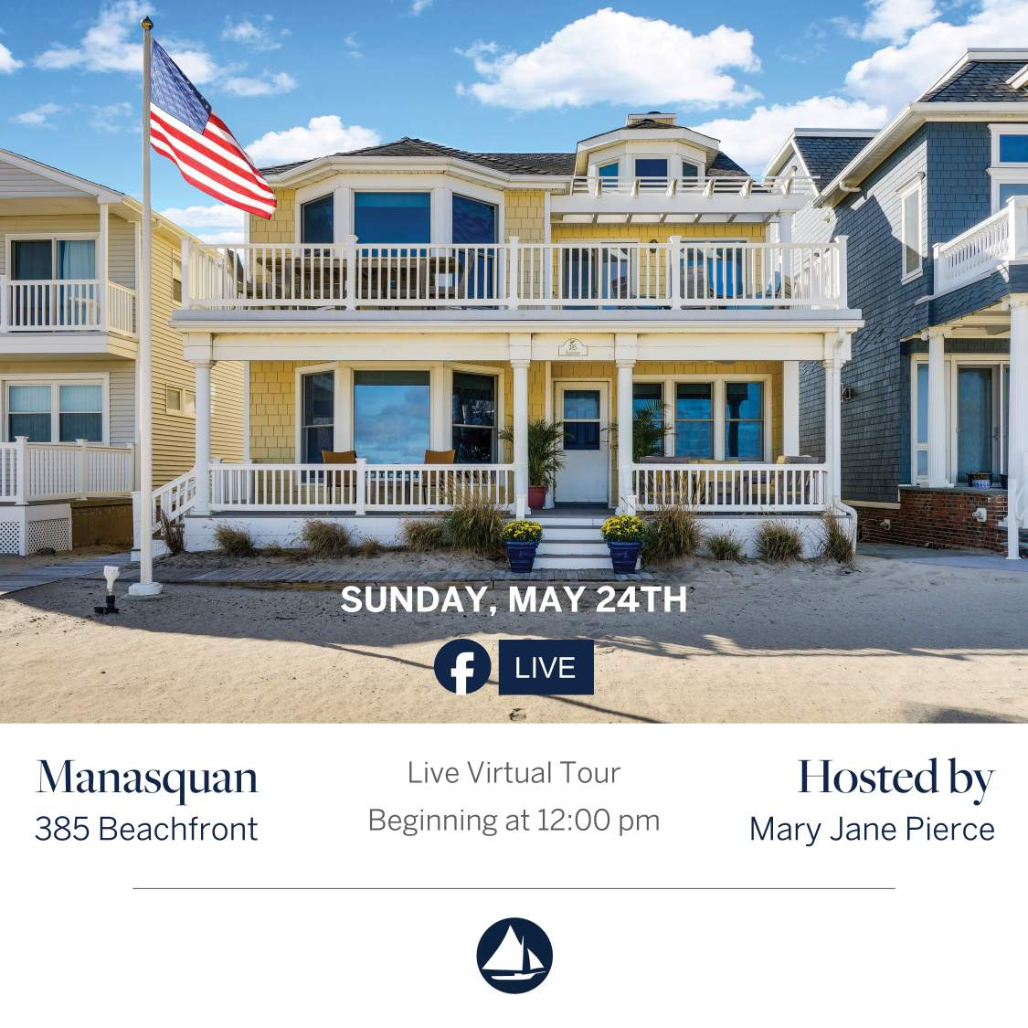 385 Beachfront & 384 1st Ave - May 24th Virtual Open House on FB Live