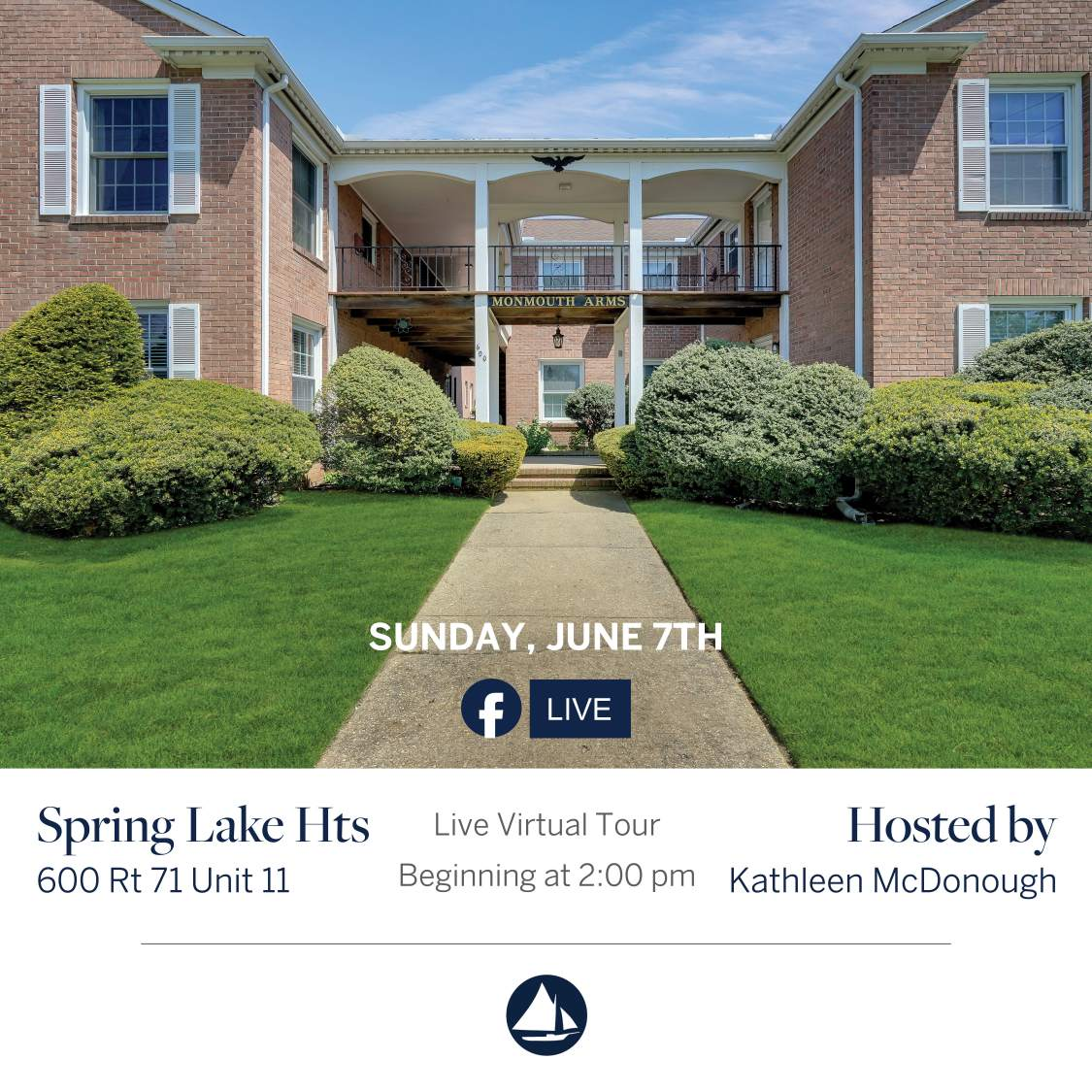 600 Rt 71 Unit 11 - June 7th Virtual Open House on FB Live