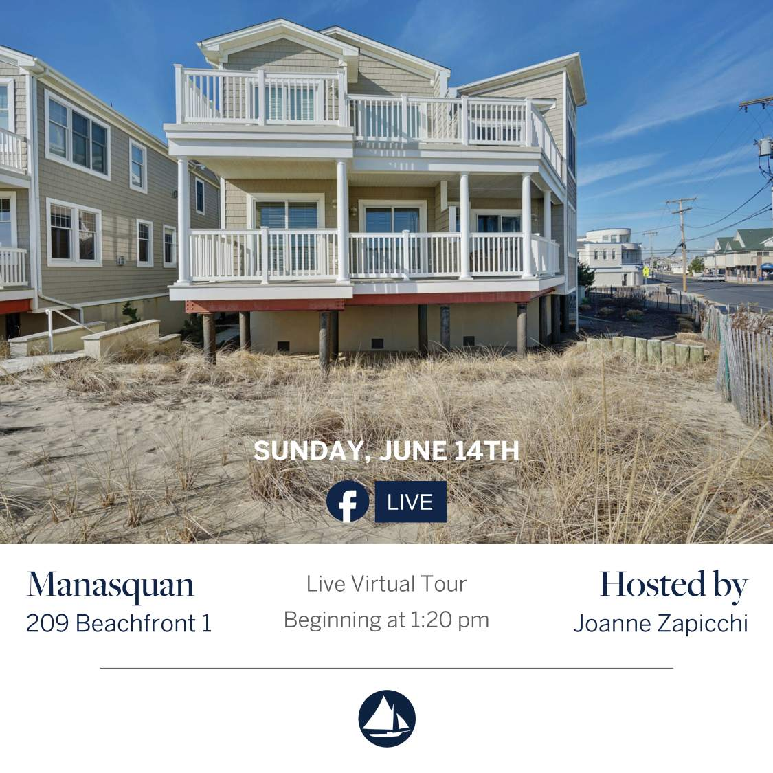 209 Beachfront 1 - June 14th Virtual Open House on FB Live